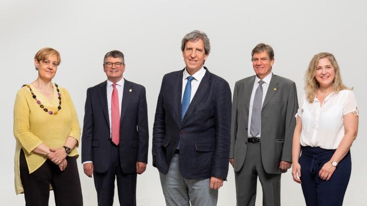 La Comisión Permanente de la Junta Directiva candidata, liderada por Miguel Ángel Sánchez Chillón.